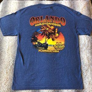 🏍 Harley Davidson Tee Orlando FL Men's L Blue